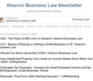 A screenshot of the ABL Newsletter